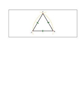 How to construct an equilateral triangle