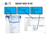 How to convert Word, Excel, PowerPoint to a PDF