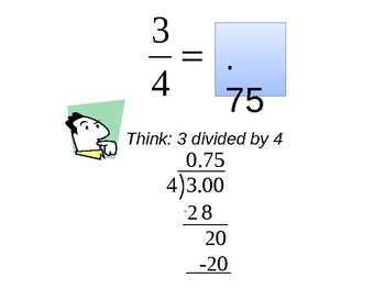 How to convert a fraction to a decimal