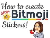 How to create BITMOJI STICKERS!