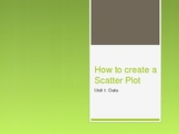 How to create a Scatter Plot