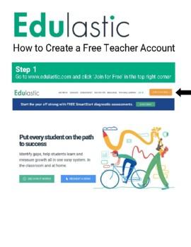 How to create a Teacher Account on Edulastic