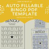 How to create an auto fillable Bingo PDF Template