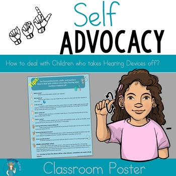 How to deal with children who takes hearing aids off? Classroom Poster tips