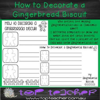 How to decorate a gingerbread biscuit