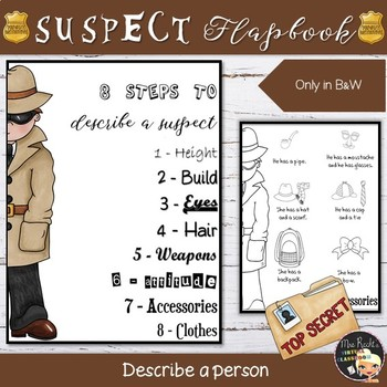 How to describe a suspect - Flapbook