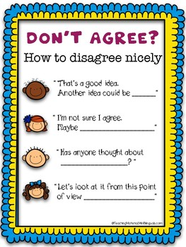 How to disagree nicely poster.