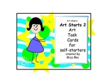 How to do Art task cards for distance learning