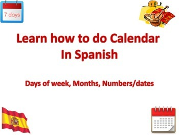 How to do Calendar in Spanish for your Circle time