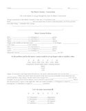 How to do Metric Conversions Worksheet