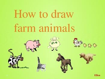 How to draw 8 farm animals