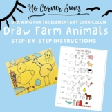 How to draw Farm Animals- Step-by-Step Elementary Art Drawing