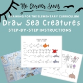 How to draw Sea Creatures- Step-by-Step Elementary Art Drawing
