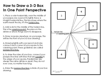 How to draw a box in one point perspective