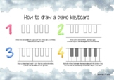 How to draw a piano keyboard