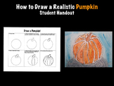 How to draw a realistic pumpkin fall student printable handout Halloween