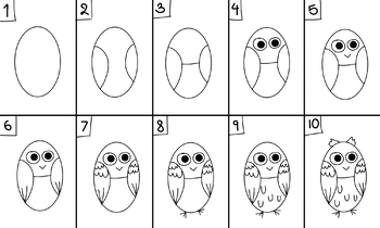 How to draw a simple owl