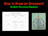 How to draw an ornament student Christmas Holiday art proj