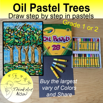How to draw and color Pastel Trees