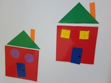 How to draw /build a house with shapes Creative Curriculum