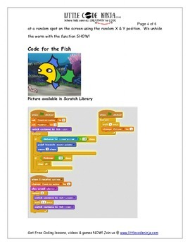 How to feed a pet fish on time - Using programming in Scratch & Math