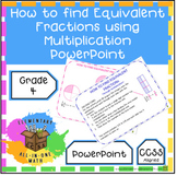 How to find Equivalent Fractions using Multiplication Powe