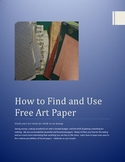 How to find (and use) free art paper