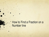 How to find fractions on a number line