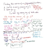 How to find the inverse of an Exponential Function!
