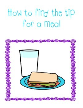 How to find the tip for a meal