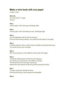 How to fold mini books