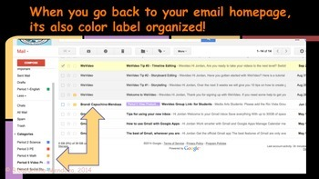 How to get organized in Gmail-for students & teachers