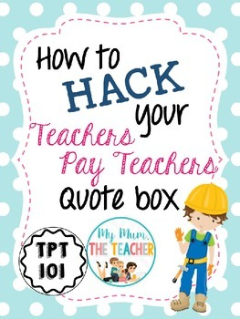How to hack your TpT Quote Box