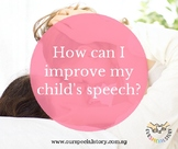 How to improve your child's speech