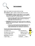 How to incorporate text evidence in writing.