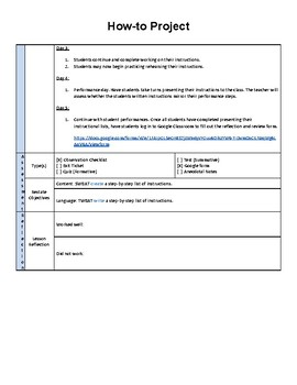 How-to informational writing lesson plan