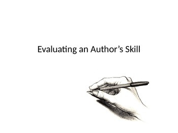 How to judge an author's skill - narrative texts