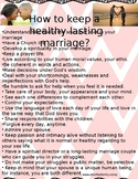 How to keep a healthy lasting marriage