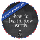 How to learn new words - Students methodology (AP)