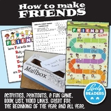Friendship Unit game and activities, grades 2, 3, 4, 5