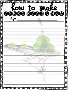 How to Make Green Eggs and Ham *FREEBIE*