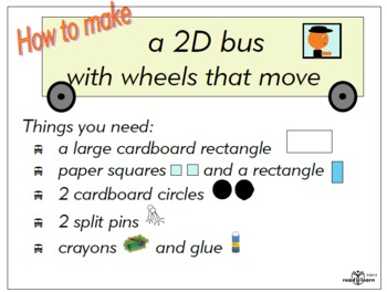 How to make a 2D bus with wheels that move