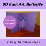 Card Art: 3D Butterfly Card