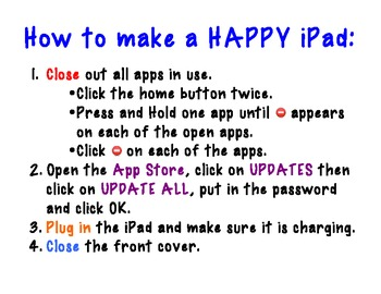 How to make a HAPPY iPad Poster