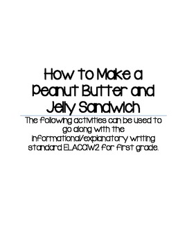 How to make a Peanut Butter and Jelly Sandwich Packet