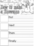 How to make a Snowman Writing Prompts