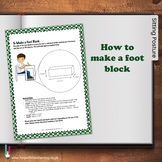 How to make a foot block