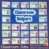 Classroom Jobs - 44 Illustrated Job Cards - Plus Editables