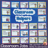 Classroom Jobs - 44 Illustrated Job Cards - Plus Editables - Glitter Border Set