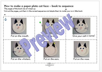 How to make a paper plate cat face